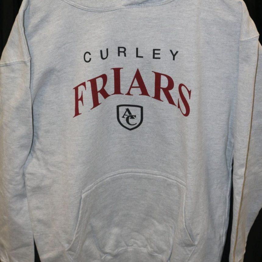 #104 Basic Sports Grey Curley Hoodie