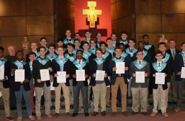 National Honor Society Induction During School Liturgy