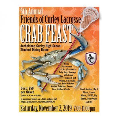 Friends of Curley Lacrosse Crab Feast
