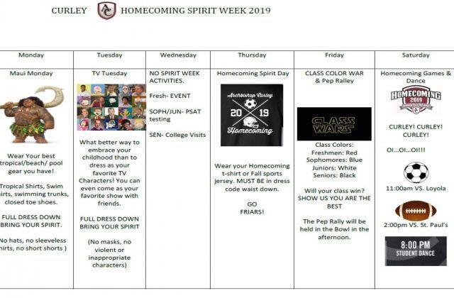 SPIRIT WEEK – This Week