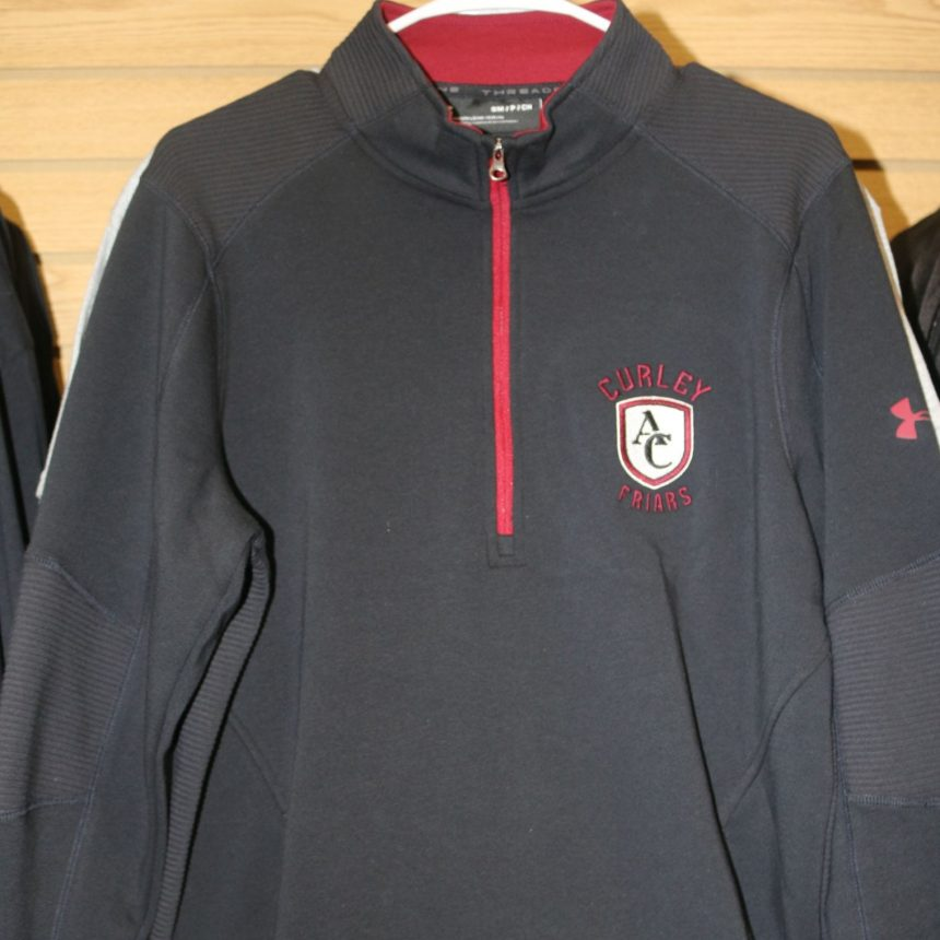 #401 UA Black Quarter-Zip Threadborne