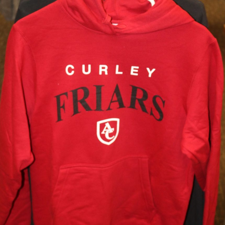 #510 Red Curley Hoodie