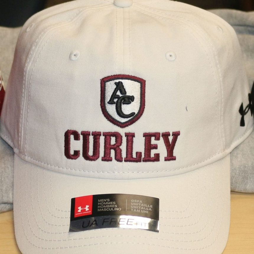 "#605 UA White Adjustable ""Curley"" Hat"