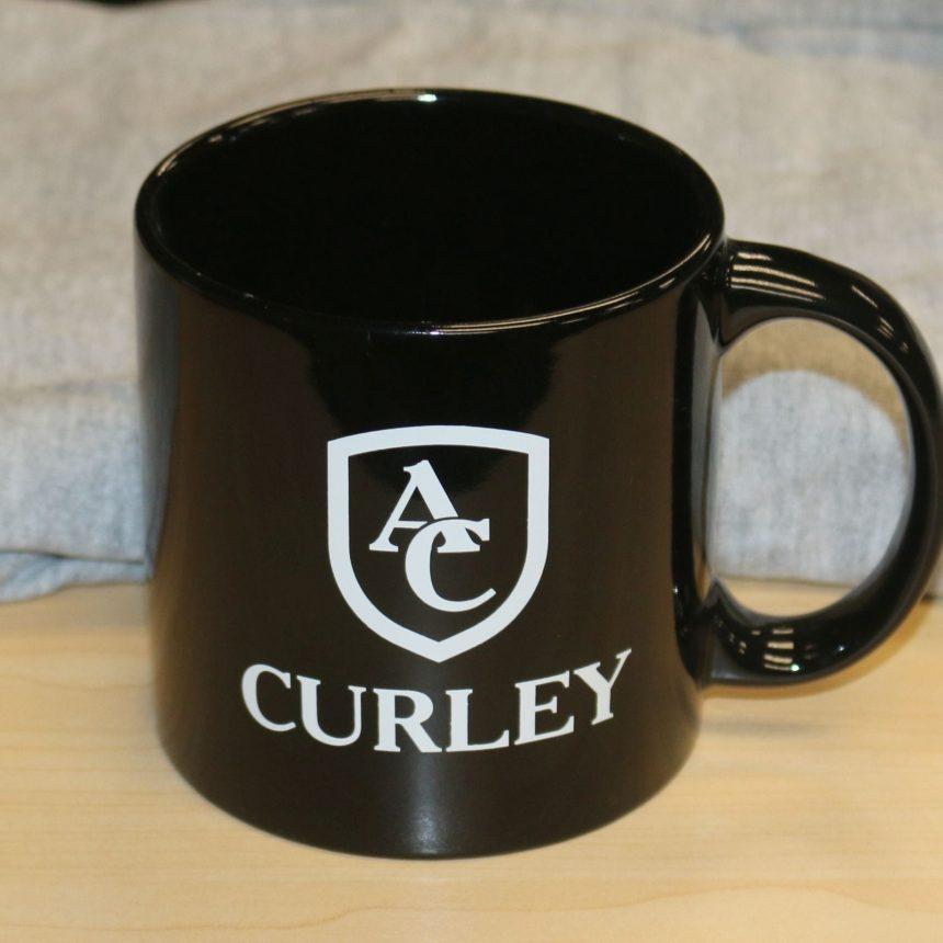 #910 Large Black Coffee Mug
