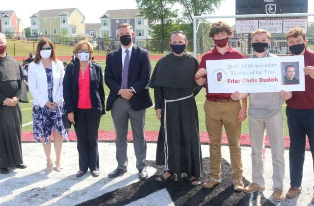 FRIAR CHRIS Named Archdiocesan High School Teacher of the Year