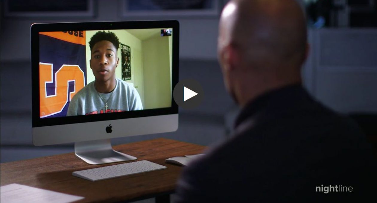 Kenny Clapp '20 Interviewed on Nightline by Byron Pitts '78